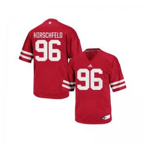 S-3XL Wisconsin Badgers Billy Hirschfeld Jerseys Alumni Men Authentic Red Jerseys