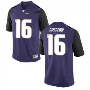 UW Huskies Youth(Kids) Game Blake Gregory Player Jerseys - Purple