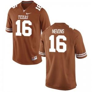 Blake Nevins For Men UT Jersey Orange Game Player Jersey