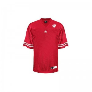 University of Wisconsin Blank Player Jerseys Authentic Mens Red