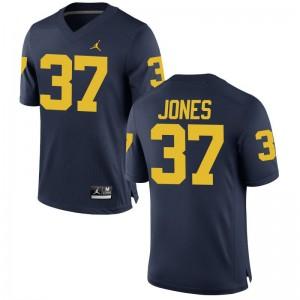 Bradford Jones Michigan College Jersey Game Jordan Navy For Men
