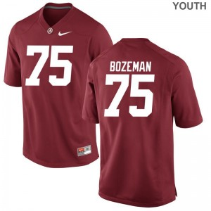 Bama Bradley Bozeman Youth Game College Jerseys Red