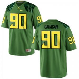 University of Oregon Brandon Gahagan Football Jerseys Game Apple Green Mens