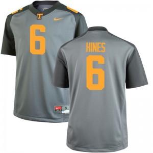 S-3XL Vols Brandon Hines Jerseys For Men Game Gray Jerseys