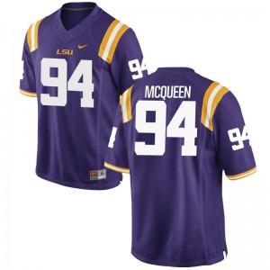 Game For Men Purple Louisiana State Tigers NCAA Jersey of Brandon McQueen