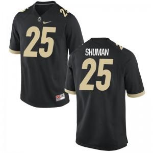 Brandon Shuman Boilermaker Alumni Jersey Mens Black Game Jersey