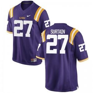 Game Men Louisiana State Tigers Jerseys S-3XL Brandon Surtain - Purple