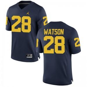 Michigan Jordan Navy Game Mens Brandon Watson Football Jerseys