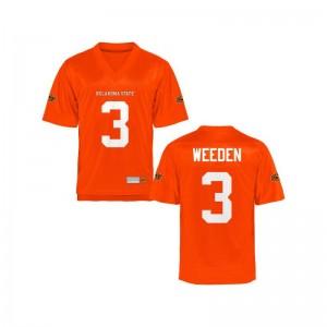 Oklahoma State Cowboys Men Orange Game Brandon Weeden Jersey