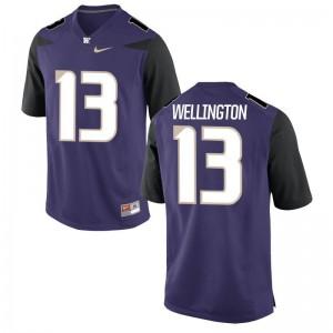 UW Huskies Jerseys of Brandon Wellington Purple Men Game