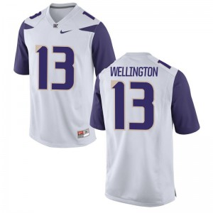 UW Men Limited Brandon Wellington High School Jerseys - White