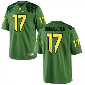 Braxton Burmeister Men Jersey S-3XL Ducks Apple Green Game