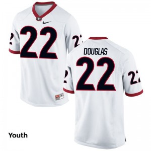 Youth(Kids) Game White UGA Bulldogs High School Jerseys of Brendan Douglas