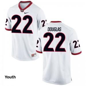 University of Georgia Brendan Douglas Jerseys S-XL White Youth Limited