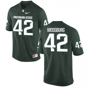Michigan State University Brent Mossburg Jerseys S-3XL Game Green Men