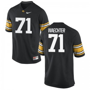 Hawkeyes Alumni Jersey Brett Waechter Black Game For Men
