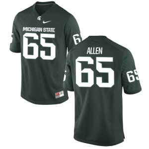 Michigan State Spartans Brian Allen Jerseys Game Mens Green