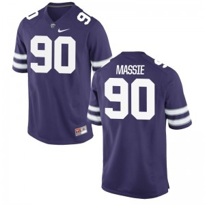 Bronson Massie Jersey S-3XL Men K-State Game Purple