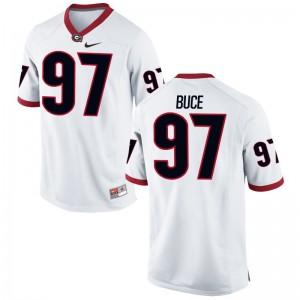 University of Georgia Men White Game Brooks Buce Jerseys S-3XL