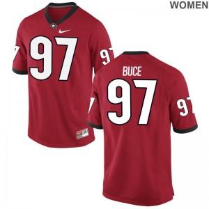UGA Bulldogs Brooks Buce Jerseys S-2XL Limited Ladies - Red