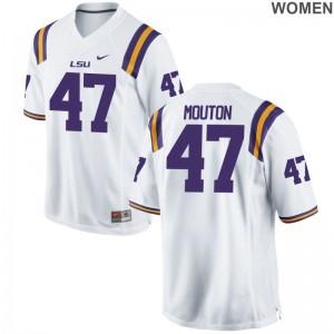 Bry'Kiethon Mouton Louisiana State Tigers Jerseys Womens Game Jerseys - White