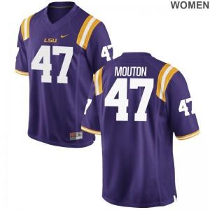 LSU Bry'Kiethon Mouton Limited Womens Jerseys - Purple