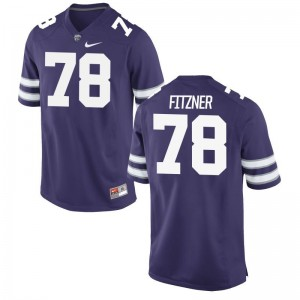 Kansas State Wildcats Game Men Purple Bryce Fitzner Jersey