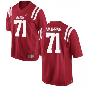 For Men Game Ole Miss Jersey S-3XL of Bryce Mathews - Red
