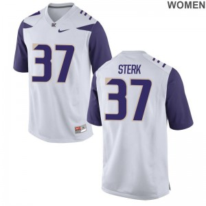 Washington Huskies Bryce Sterk Womens Game White Player Jerseys