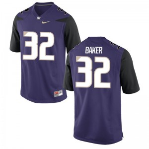 Mens Budda Baker Jerseys S-3XL UW Game Purple