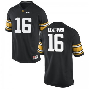 University of Iowa C.J. Beathard Jersey Game Black For Men