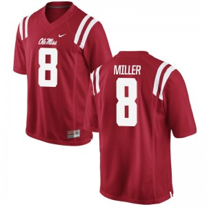 Game C.J. Miller Football Jersey Ole Miss Rebels Mens - Red