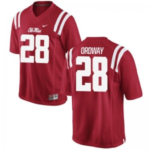 University of Mississippi Cam Ordway High School Jersey Men Red Game Jersey