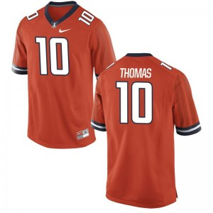 Mens Game Football Fighting Illini Jersey Cam Thomas Orange Jersey