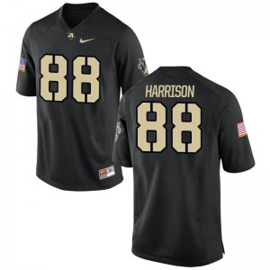 Camden Harrison United States Military Academy Mens Jersey Black Football Game Jersey