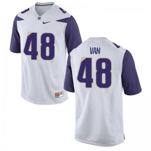 Cameron Van Winkle Jerseys UW Huskies White Limited Men High School Jerseys
