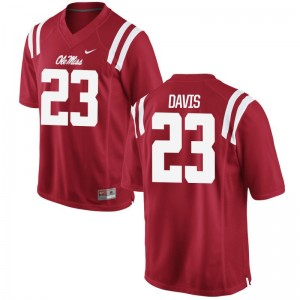 Ole Miss Rebels Carlos Davis Jersey Game Mens - Red