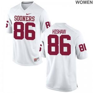 Oklahoma Sooners Carlos Hishaw Jerseys S-2XL Ladies White Game