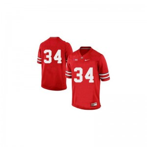Ohio State Carlos Hyde Game Mens Jerseys - Red