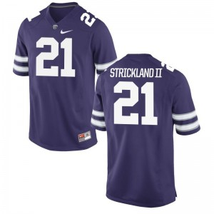 Kansas State Wildcats Alumni Jersey Carlos Strickland II Game Mens Purple