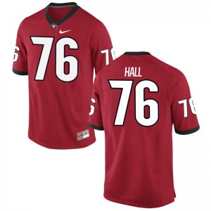 Men Game Georgia Bulldogs Player Jersey of Carson Hall - Red