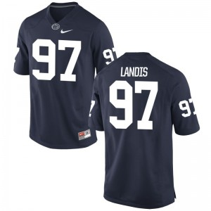 Carson Landis Nittany Lions Jerseys Navy Mens Game
