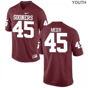 Youth Limited OU Jerseys S-XL of Carson Meier - Crimson