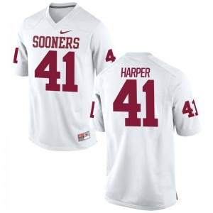 White Limited Mens Oklahoma College Jersey of Casey Harper