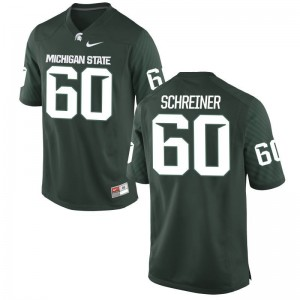 Michigan State Spartans Casey Schreiner Men Game Jersey Green