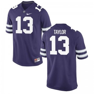 Kansas State Wildcats Chabastin Taylor Jersey Purple Mens Game