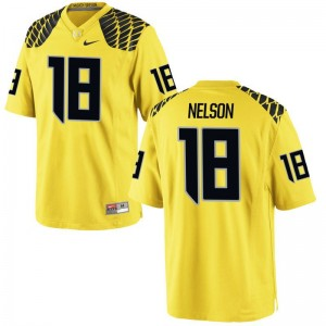 Gold Limited Men University of Oregon Jersey of Charles Nelson