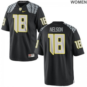 Charles Nelson For Women Player Jersey Game Oregon - Black