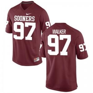 Oklahoma Charles Walker Game Men Jerseys S-3XL - Crimson