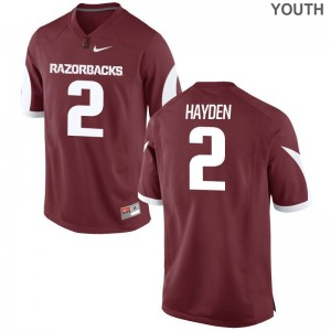Arkansas Razorbacks Chase Hayden Game Kids Jersey - Cardinal